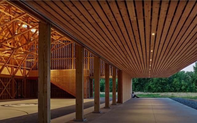 Thaden School Bike Barn-木材设计与建筑大奖金奖