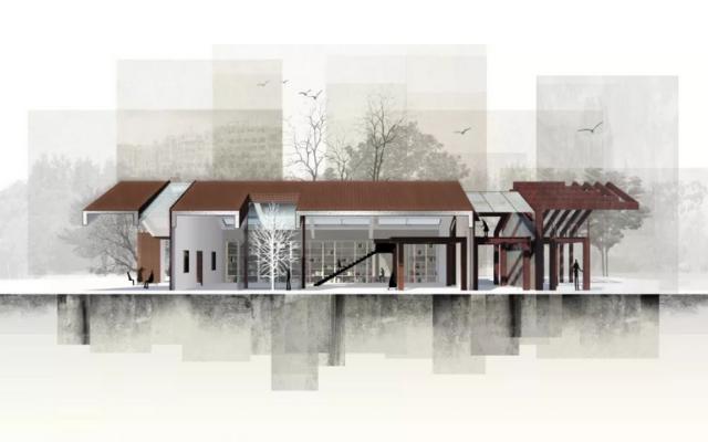 """华东师范大学丽娃河畔书吧 被授予""""Building Re-use Project 类别最佳"""""""